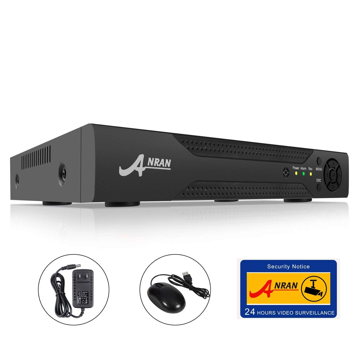 ANRAN 8CH HD H.264 Home Security Surveillance Camera System 8 Channels Hybrid 5-in-1 DVR 1080P NVR 1080N AHD 960H Analog CVI TVI Digital Video Recorder Quick QR Code Scan and Easy Remote View