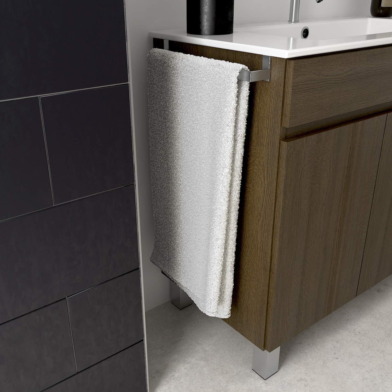DUCHA.ES Mueble DE BA/ÑO con Lavabo ENCIMERA TOALLERO Moderno Medidas 100CM, Blanco