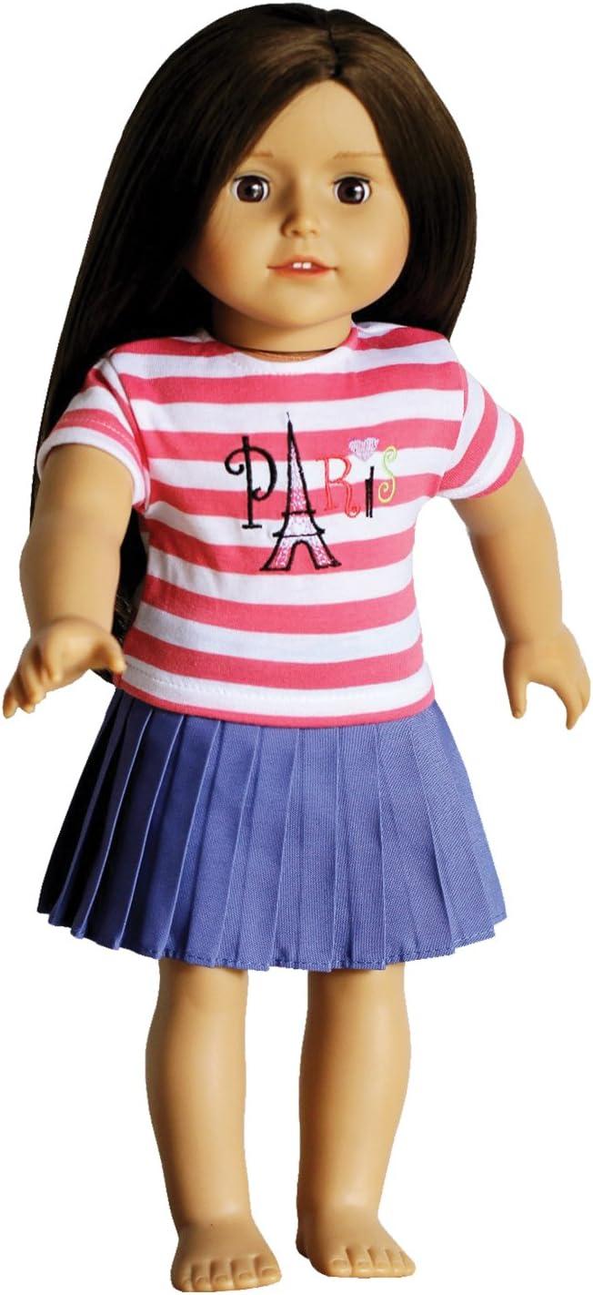 """**SALE** Set 3 PINK BLUE LAVENDER Striped DOLL SOCKS fit 15/"""" /& 18/"""" AMERICAN GIRL"""