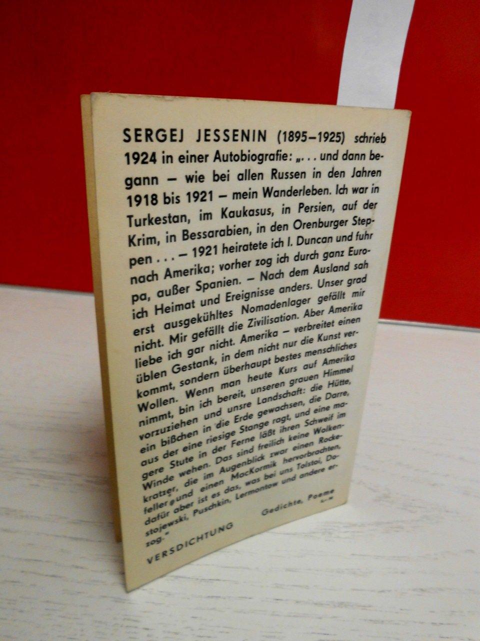 Gedichte Russischdeutsch Amazonde Sergej Jessenin