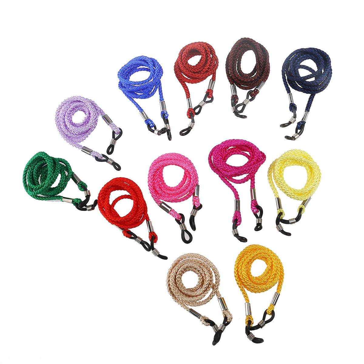 LEORX 12st Nylon Sonnenbrille Brillengestell Spektakel Eyewear Sstrap Schnur Halter Neck String (zufällige Farbe)