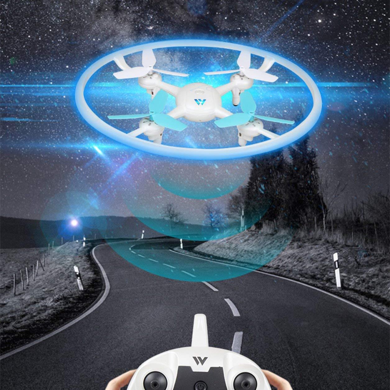 Dailyinshop ATTOP Mini RC Vier-Achsen-Drohne Quadrocopter HD Kamera Fixed High Hubschrauber (Farbe: blau)