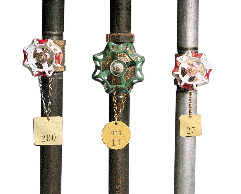 Brady Blank Valve Tags - Round Brass Tags, 1-1/2'' Diameter, B-907 (Pack of 25) - 23210 (Вundlе оf Fоur) by Brady (Image #3)