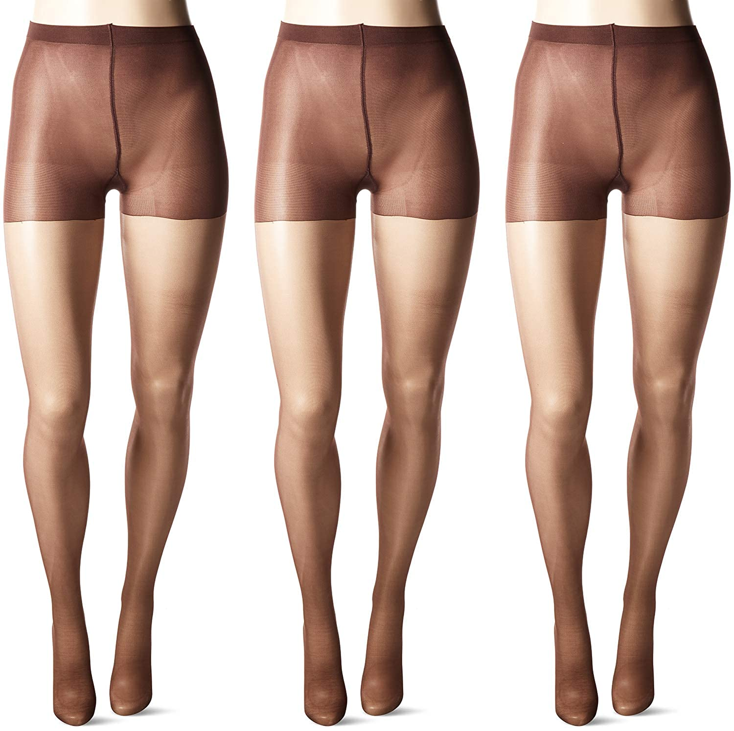 75cba9300 HUE Women s So Silky Sheer Control Top Pantyhose (Pack of 3) at Amazon  Women s Clothing store