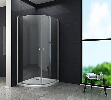 Sehr Duschkabine MARISO 90 x 90 x 190 Viertelkreis ohne Duschtasse VN36