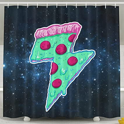 HUANGLING Thunder Pizza Shower Curtain 60x72inch