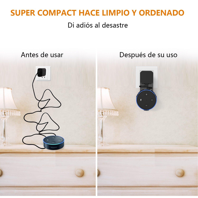 Soporte de Pared para Amazon Echo Dot 2nd Generation, bedee Soporte de Suspensión de Montaje en Pared Soporte de Segunda Generación Dot Accesorios de Ahorro de Espacio para Su Altavoz Smart Home y otro Altavoz Redondo