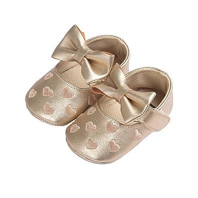 Amazon.com: Baby Girl de Sweet Heart Mary Jane con Bowknot ...