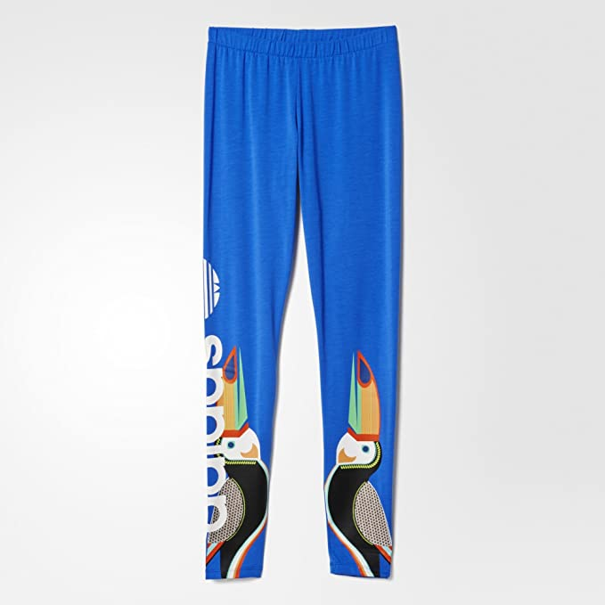 85f95696a007d adidas Originals Women x FARM Tukana Toucan Linear Leggings: Amazon.co.uk:  Clothing