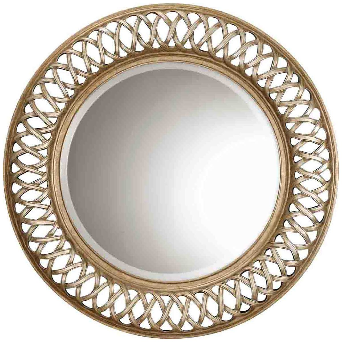 Large Round Silver Mirror Part - 25: Amazon.com: Uttermost 14028 B Entwined Mirror, Antique Gold: Home U0026 Kitchen