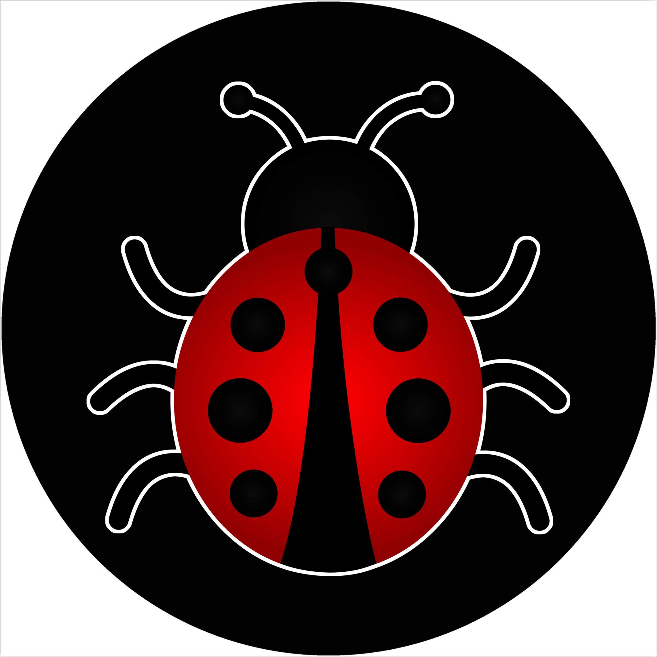 TIRE COVER CENTRAL Ladybug on Black Spare Tire Cover for 33X12.5X_Jeep RV Camper and More (Select from Popular Sizes in Drop Down menu or Contact us by TIRE COVER CENTRAL