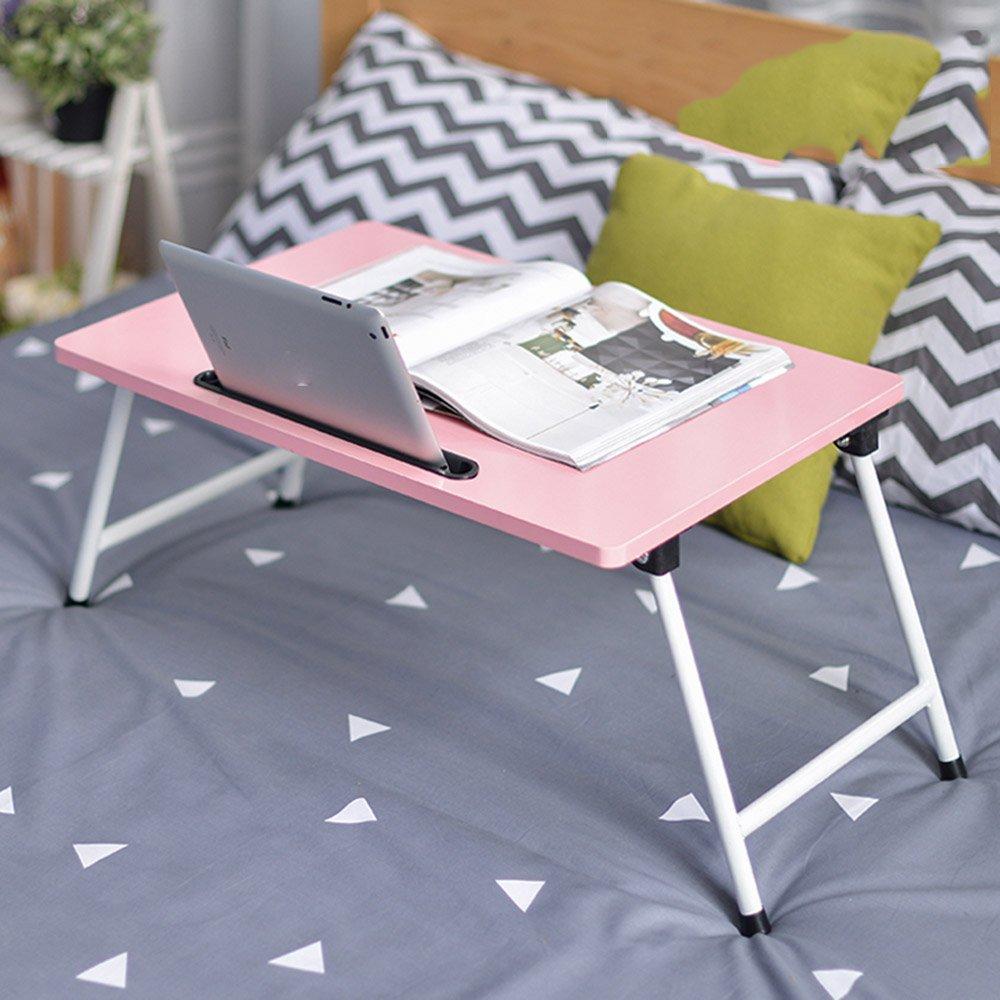 Klapptisch einstellbar Laptop-Tisch Bett 8 Farben optional 60  40cm Kann gedreht Werden (Farbe   G)