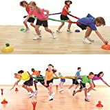 Elastic Fleece Cooperative Stretchy Band Integrations Dynamic Movement Exercise Latex Band Stretchy 12 Feet Creative Movement Prop for Group Activities Special Needs Large Motor Coordination