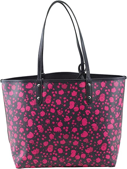62cc78010 COACH Reversible City Tote in Prairie Calico Print Canvas: Amazon.ca: Shoes  & Handbags