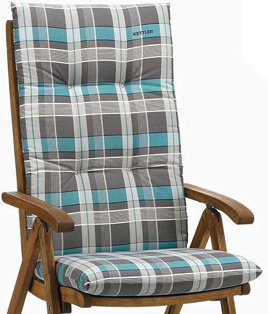 Coussin déco coussins à dossier haut Niederlehner fauteuil chaise en Gris à Carreaux