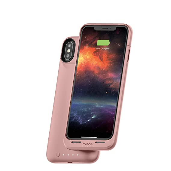 premium selection f5195 18077 mophie Juice Pack Air - MFI Certified - Wireless Charging - Protective  Battery Pack Case for Apple iPhone Xs/X - Rose Gold