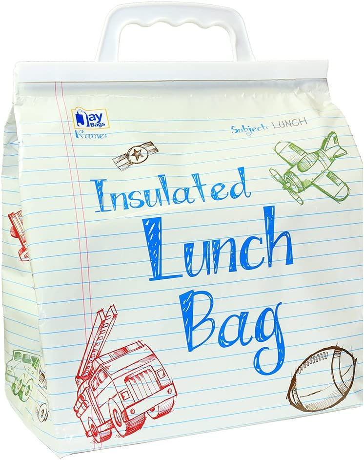 Jay Bags Lunch Reusable Insulated Food Bag, School
