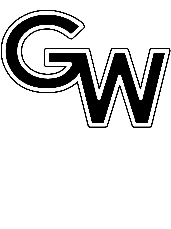 NCAA Gardner Webb Bulldogs PPGRU04 Womens Color Block Zip-Up Hoodie