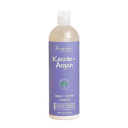Renpure Keratin & Argan Shampoo, 16 Fluid Ounce by Renpure