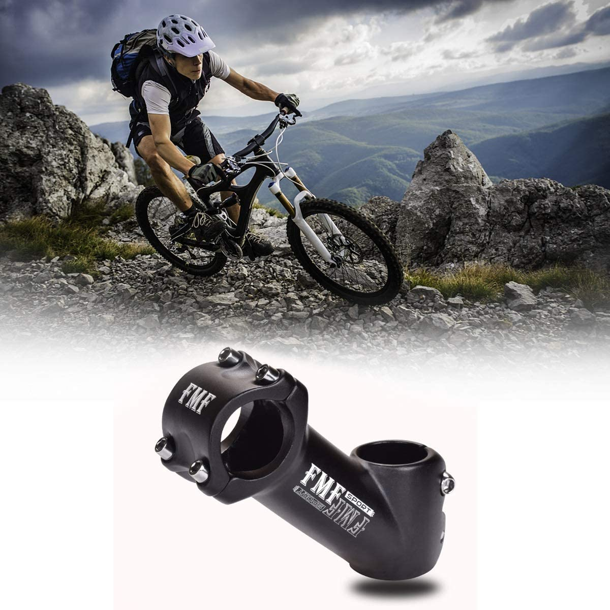 FMF Bike Stem MTB Mountain Bike Stem Aluminum alloy Bicycle Riser 45° 90mm Stem