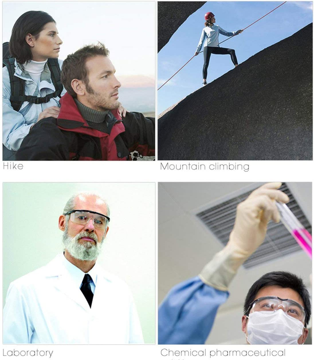 BIYI Gafas de Seguridad Gafas Protectoras m/édicas Transparentes evitan el Polvo de Saliva Gafas de Bicicleta Gafas Protectoras de la Vida Diaria