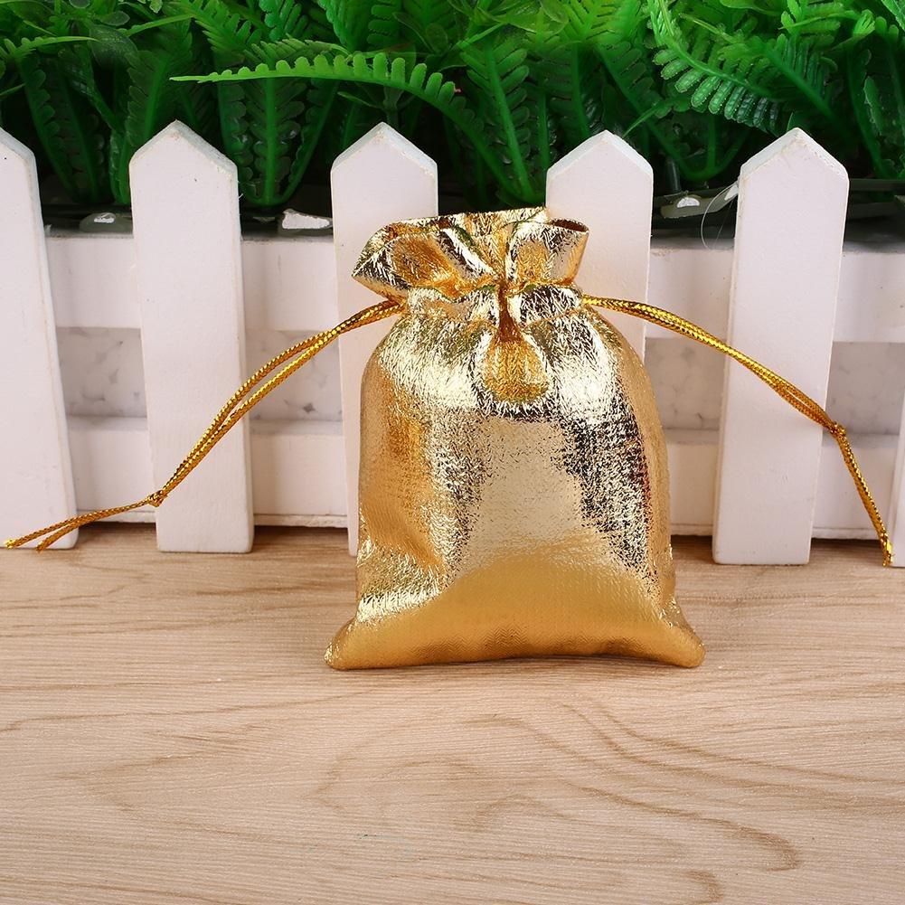Kicode TOPmountain 10 Piezas Oro Cord/ón de Plata Bolsos de Regalo de Boda Joyer/ía Bolsas para el Almacenamiento de envases de joyer/ía