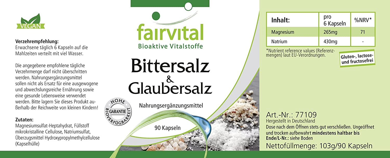 Bittersalz Glaubersalz Fur 15 Tage Vegan 90 Kapseln