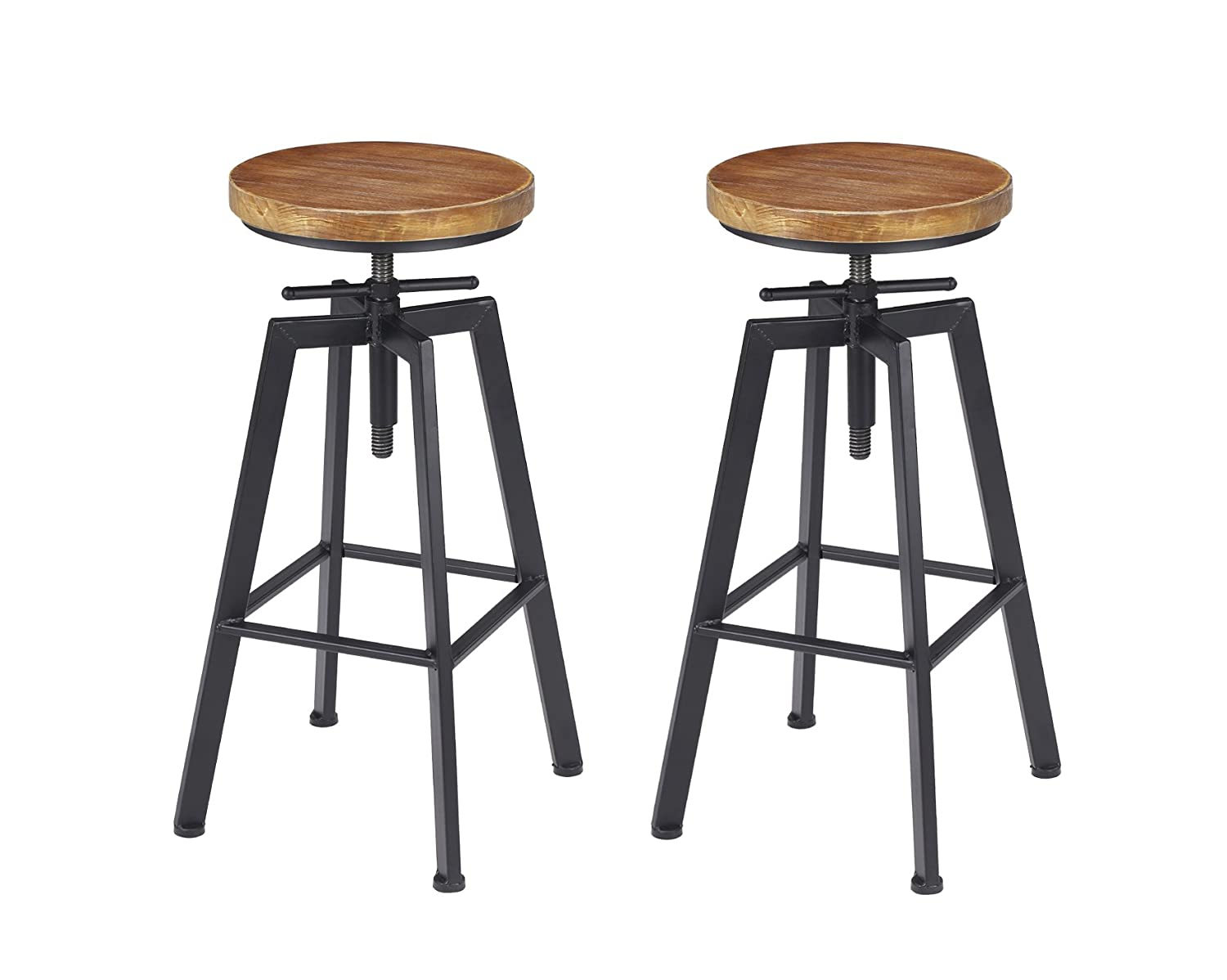 VILAVITA Set of 2 Bar Stools 27.5