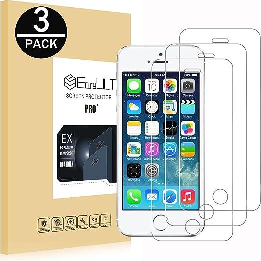 EasyULT Crital Templado Screen Protector para iPhone 5S/SE/5/5C [3 Piezas], Protector de Pantalla Compatible con iPhone 5S/SE/5/5C: Amazon.es: Electrónica