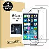 EasyULT [3-Pack] Pellicola Vetro Temperato iPhone 5S/SE/5/5C, 3 Pack Pellicola Protettiva in Vetro Temperato Screen Protector per iPhone 5S/SE/5/5C