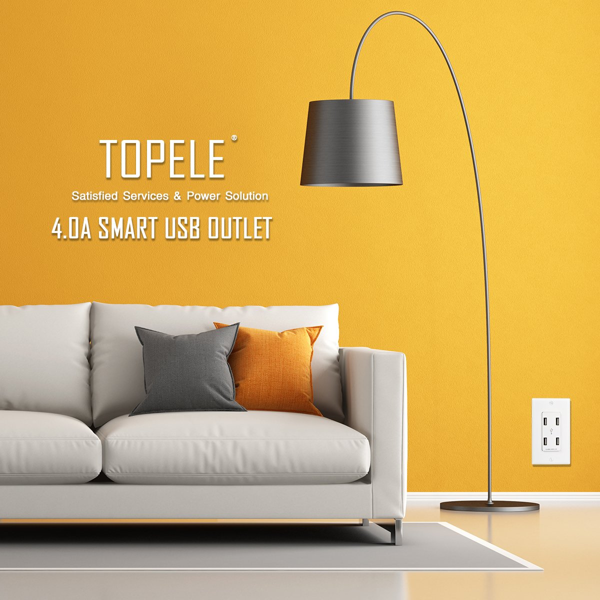 topele 4 0a high speed usb wall outlet 4 usb ports charger wall rh amazon com