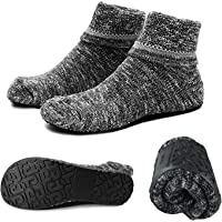 Womens Slipper Socks Cozy Indoor Socks Winter Warm Thicken Floor Socks With Grippers,Size:4-9.5