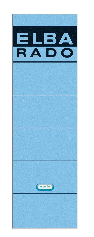 Elba Rado - Bolsa de 10 etiquetas autoadhesivas para archivadores y revisteros anchas, color azul: Amazon.es: Oficina y papelería