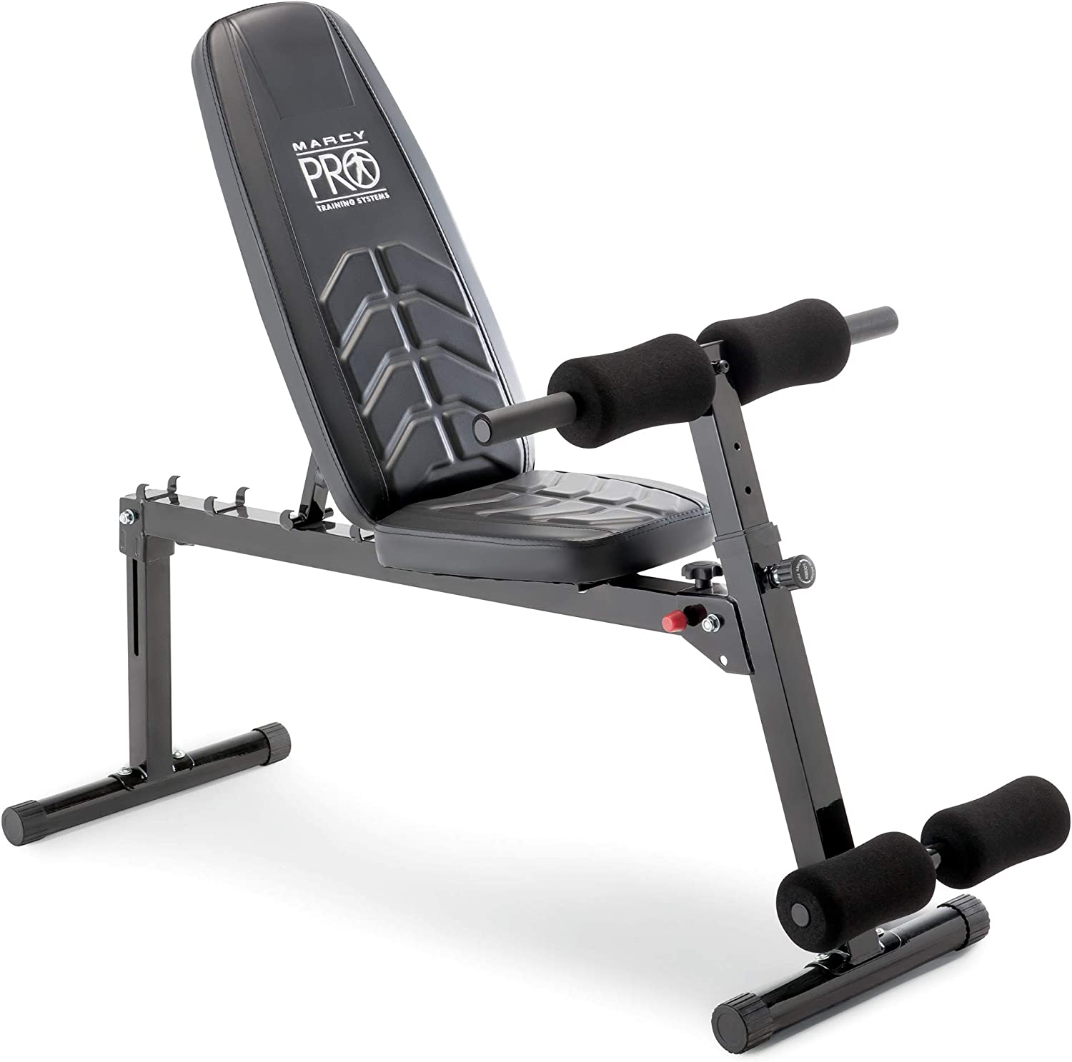 Marcy Multi-Position Utility Bench with Adjustable Hyper-Extension Anchor, 250-lb Max. Capacity Home-Gym Equipment PM-4880, Black