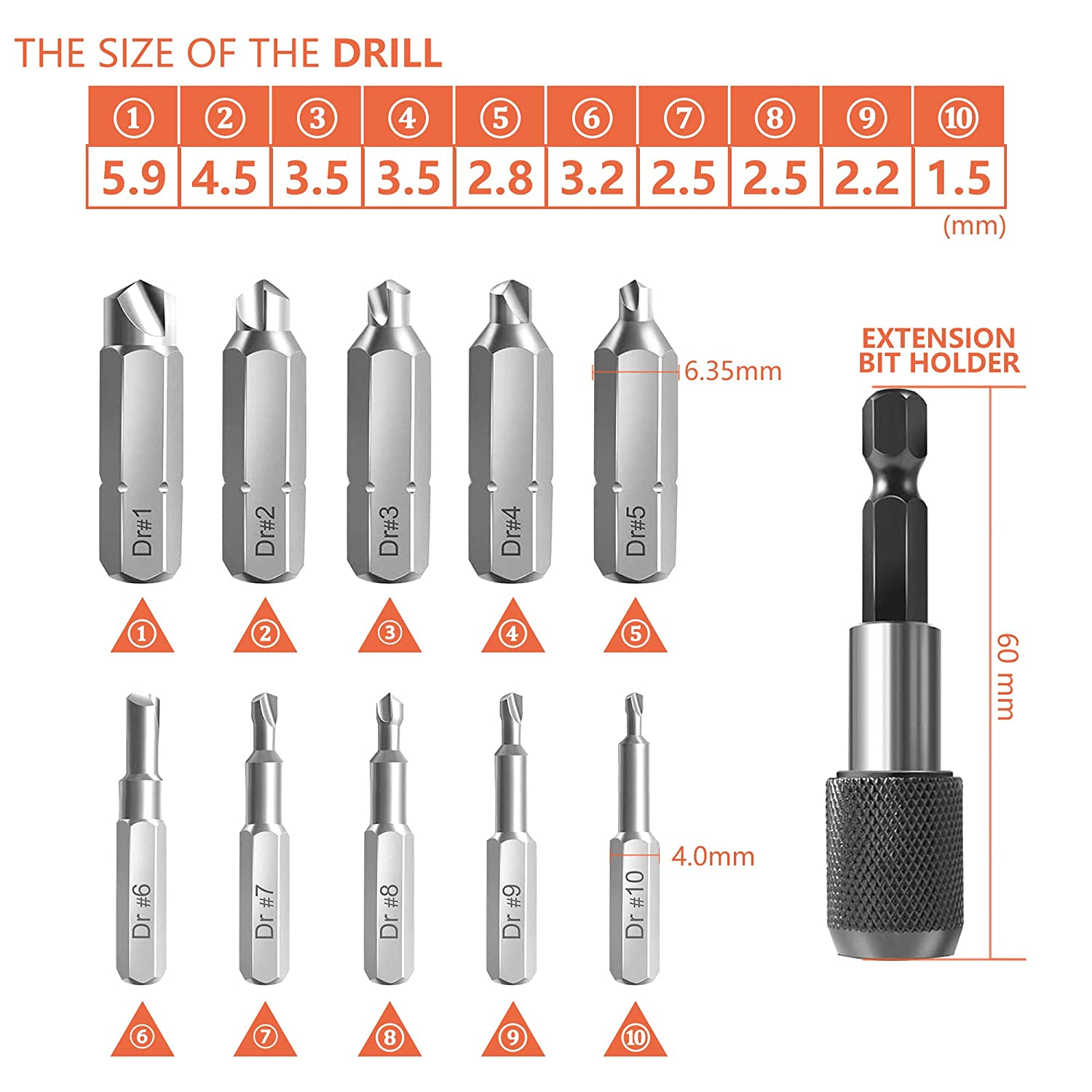 XOOL Screw Extractor Kit 22 Pieces Used for Disconnecting Screws and Bolts Screw Extractor Tool with Magnetic Extension Drill Holder Adapter