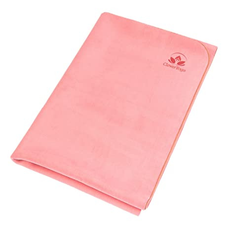 Travel Yoga Mat - Lightweight and Foldable - Absorbent and Machine Washable - Non Slip Yoga