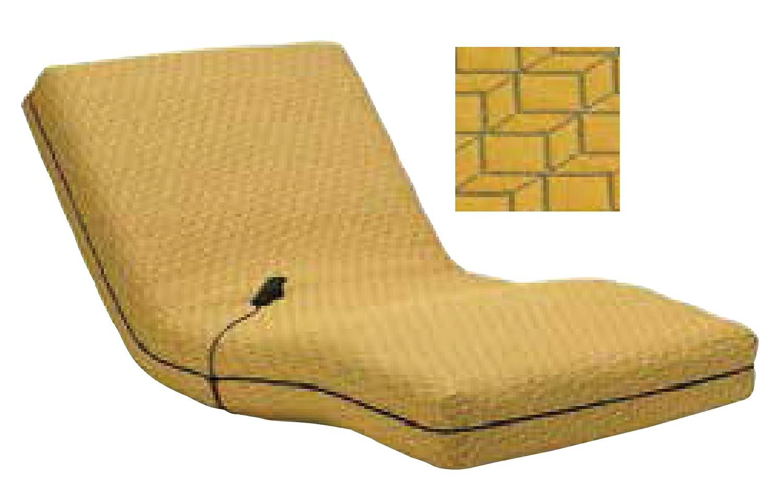 フランスベッド 電動リクライニングマットレス シングルサイズ RP-1000DLX専用カバー ジオ(YE) B01N29W4TH