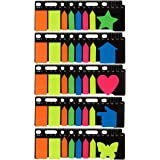Pack of 1000 Index Tabs, Bookmark Stickers and Memo Flags - Color Coded Polyester Sticky Notes Self Stick Note Pads Post Notes for Students, Office Use, Home Use
