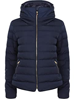 f109bcbd9d2 Tokyo Laundry Ladies Jenny Funnel Neck Quilted Padded Zip Up Jacket ...