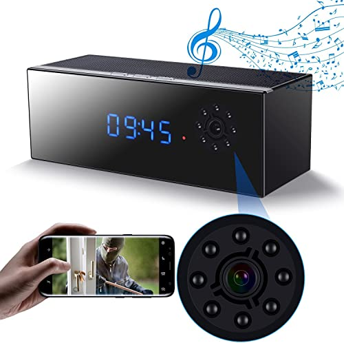 Hidden Spy Camera in Bluetooth Speaker with Night Vision, Wireless Hd 1080P Nanny Cam, Motion Detection WiFi Smart Security Monitoring Home Office Shop,Up to 128G