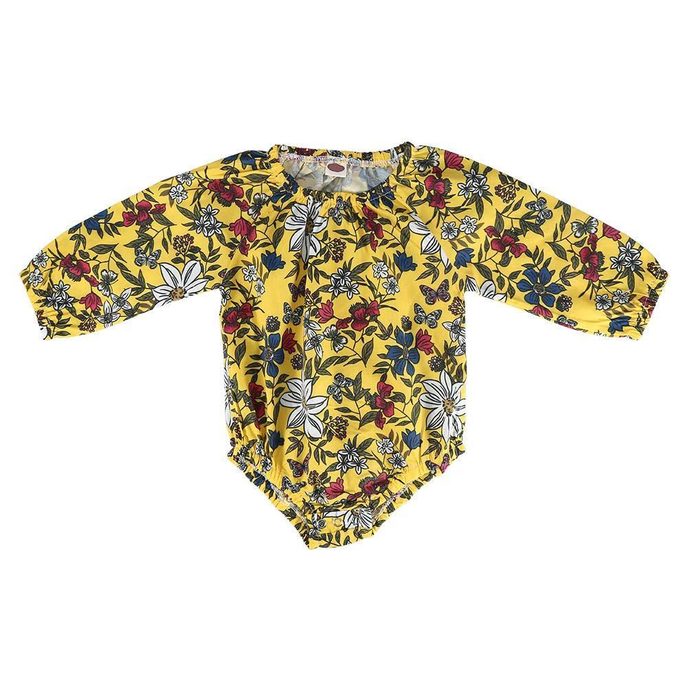 Mono Del Bebé Estampado Floral Infant Kid Body Mameluco De Manga Larga Suave y Cómodo Para Niños Pequeños Trajes De Bebés 0-24 Meses(70cm): Amazon.es: Bebé