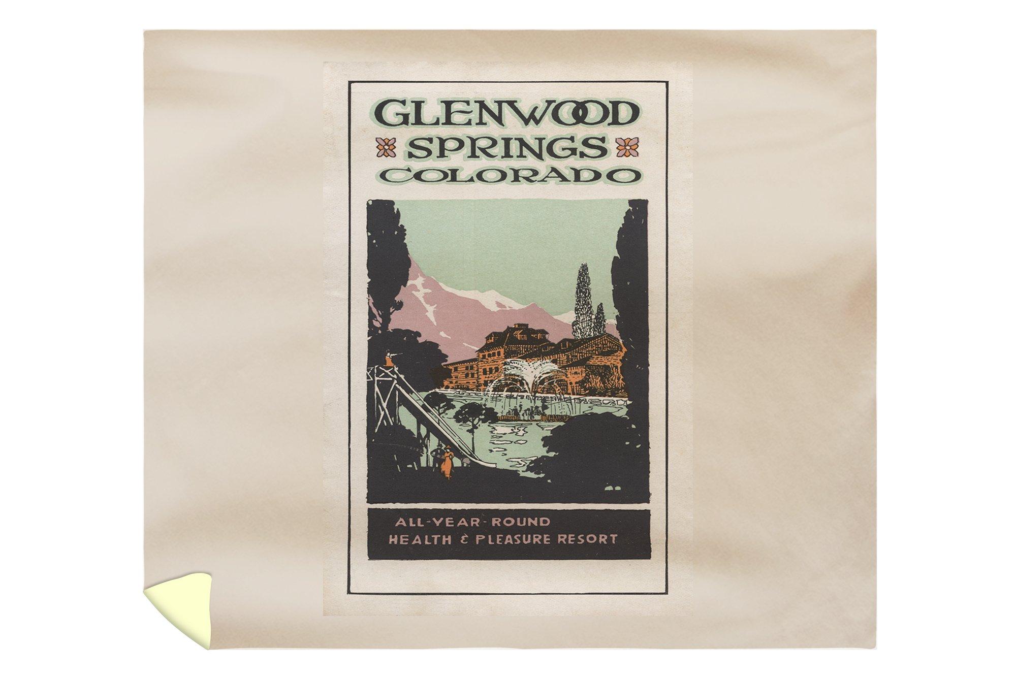 Glenwood Springs, Colorado - Health Resort #2 - Vintage Travel Advertisement (88x104 King Microfiber Duvet Cover)