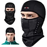 KINGBIKE Balaclava Ski Face Mask Windproof Men Women Warm Hood Winter Masks Thermal Fleece Fabric with Breathable Vents for Cold Cycling Skiing Motorcycle Snowboard Tactical Hunting