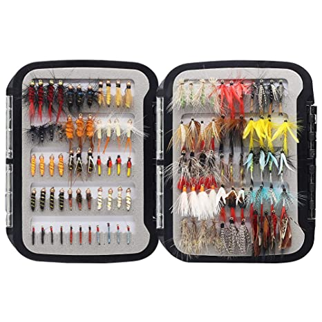 4cdd0cbfb YZD Trout Fly Fishing Flies Collection 110 Premium Flies Dry Wet Nymph  Streamers Fly Assortment with