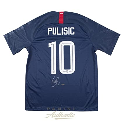 05bdecfb1ce Christian Pulisic Autographed 2018 Nike US Men s National Team Blue  10 Authentic  Jersey ~Open Edition Item~ - Panini Authentic - Panini Certified at ...