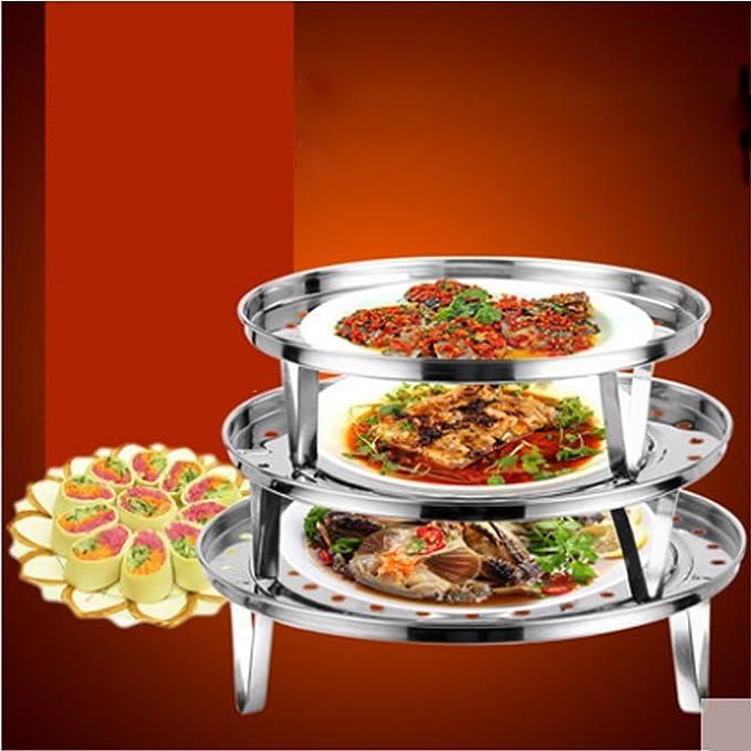 Amazon.com: Aço inoxidável DealMux Cozinha Multi-Purpose Cooking Baking Pan bandeja de vapor Food stand rack 26 Dia 2pcs: Kitchen & Dining