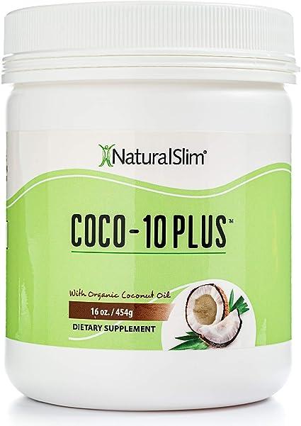 Naturalslim Coco 10 Plus Aceite De Coco Orgánico Con Enzimas Coq 10 Mejora La Energía A Nivel Celular Quemador De Grasa Natural A Cualquier Intento De Dieta Y Soporte Tiroideo