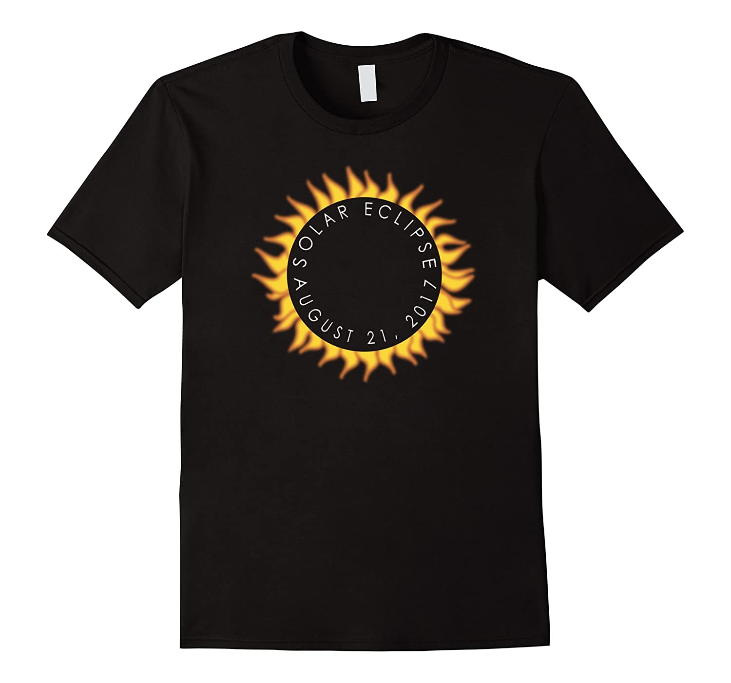 Flaming sun eclipse gift tee shirt-TD