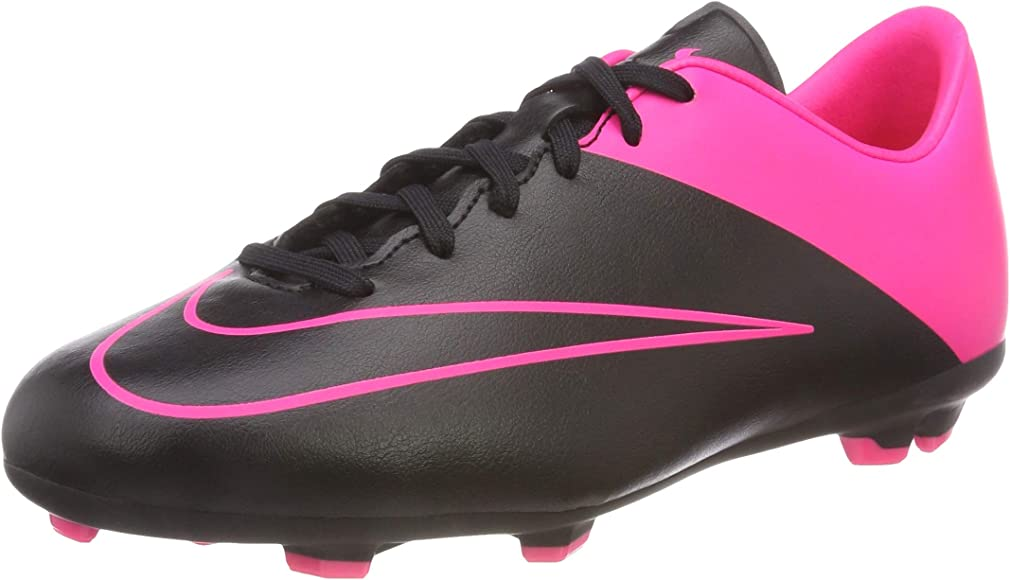 nike boots pink and black