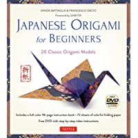Japanese Origami for Beginners Kit: 20 Classic Origami Models: Kit with 96-page Origami Book, 72 High-Quality Origami…